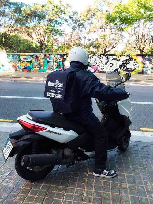 mensajería moto