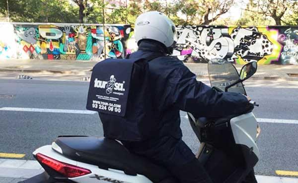paquetería urgente moto Barcelona